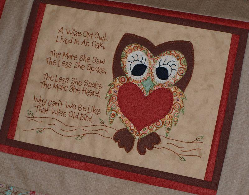OWL QUILT CARD