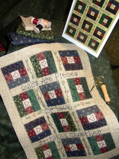 Quilts Are Pieces Of Love Stitched Together